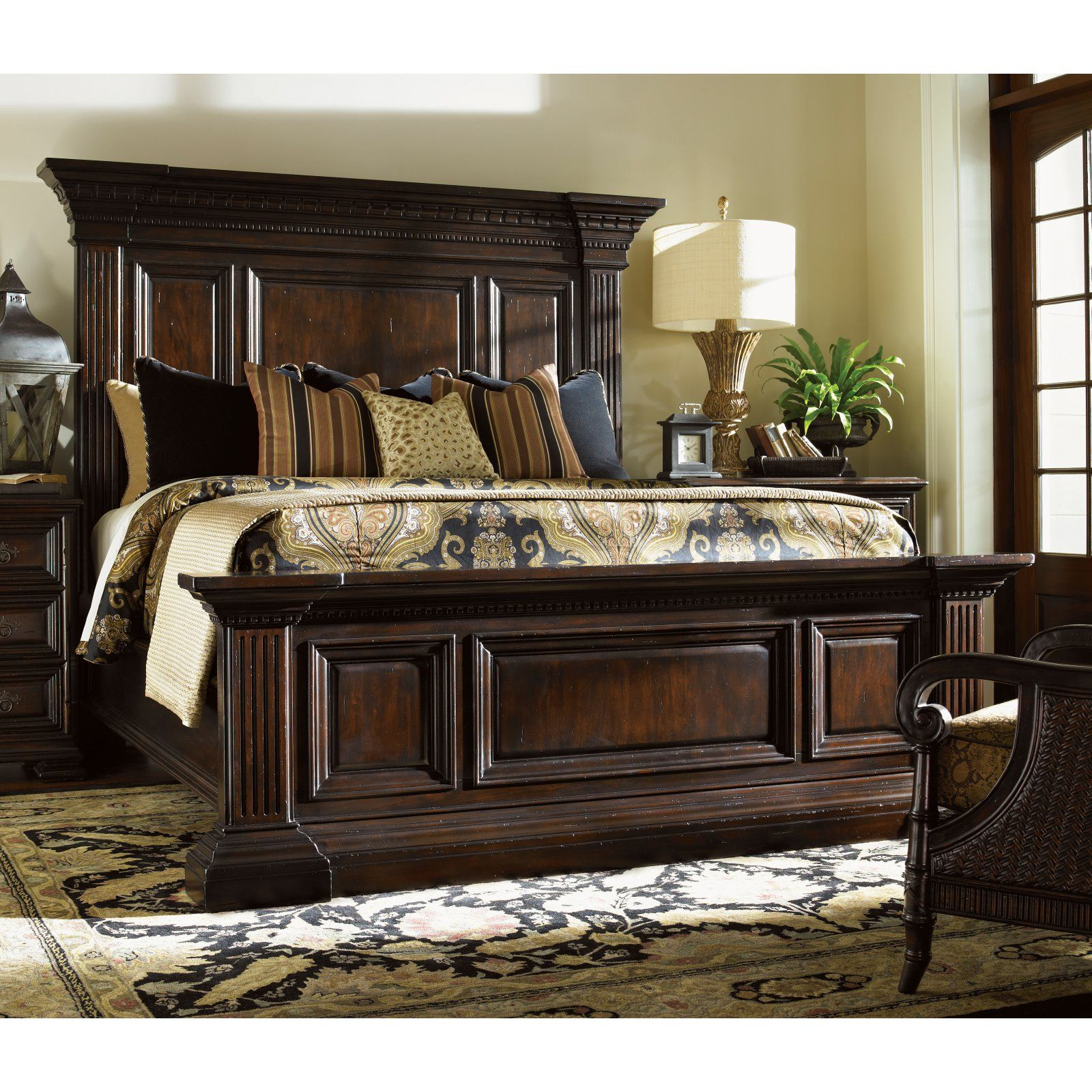 Tommy Bahama Island Traditions Sutton Place Pediment Mansion Bed