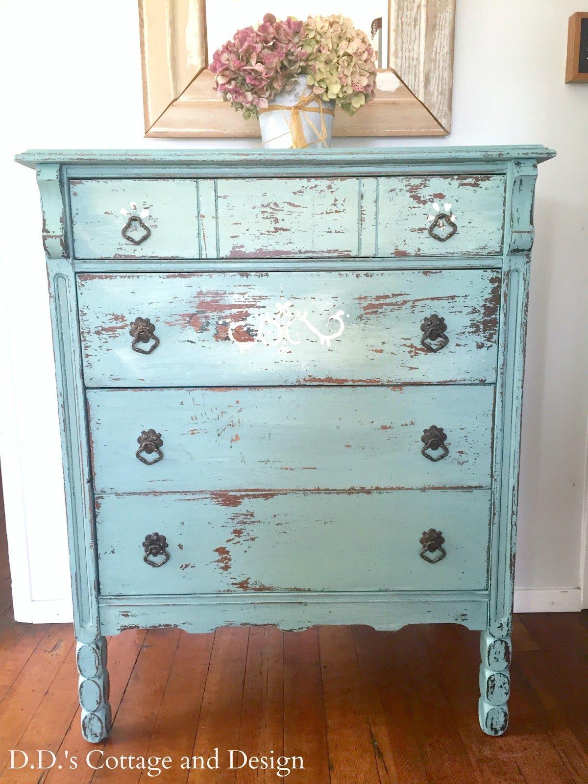Chippy Milk Painted Dresser Vintage Bedroom Furniture Milk