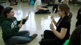Sarasponda, via YouTube.  Rhythm sticks