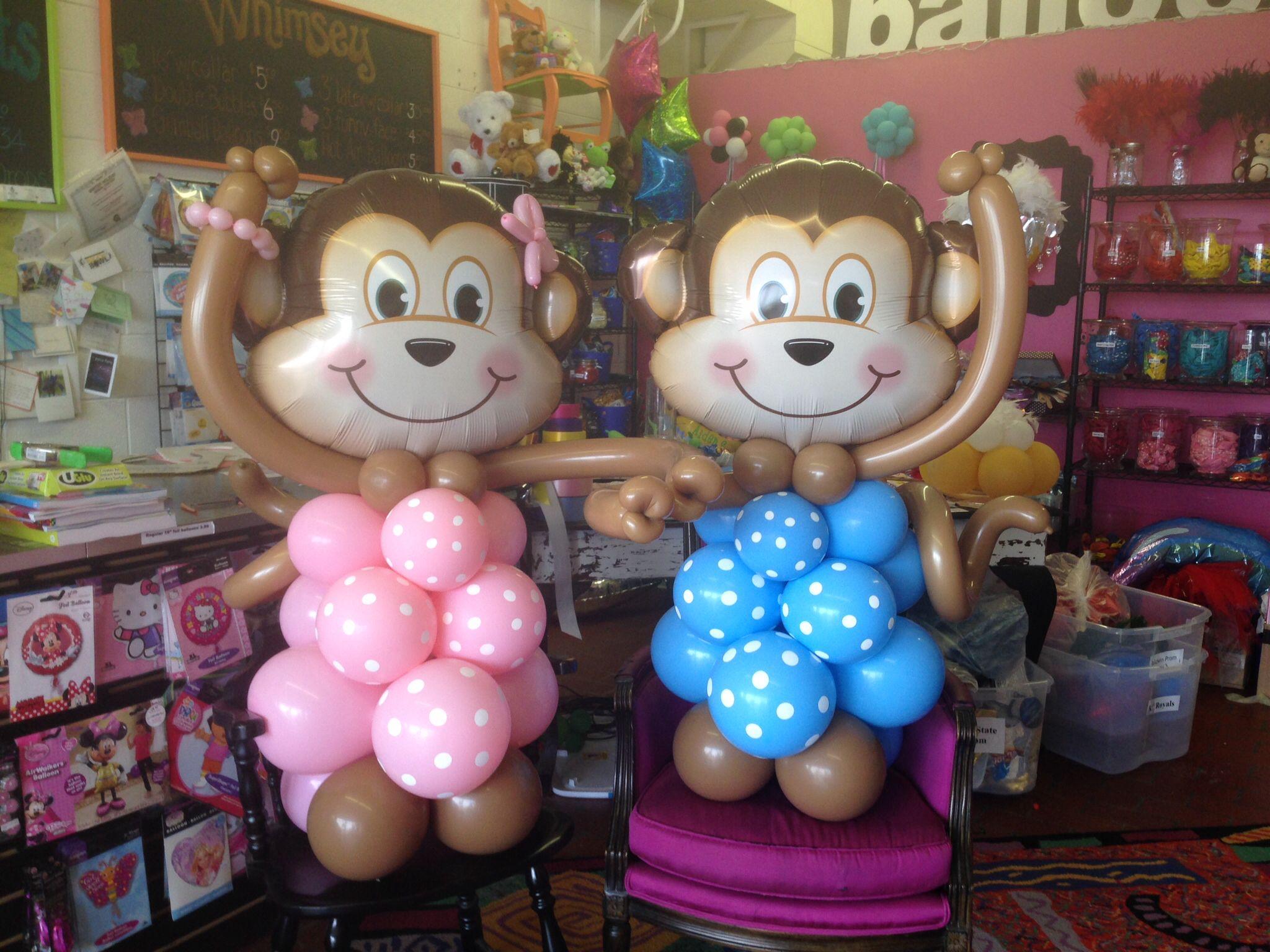 Two little Monkeys! www.balloonarts.biz