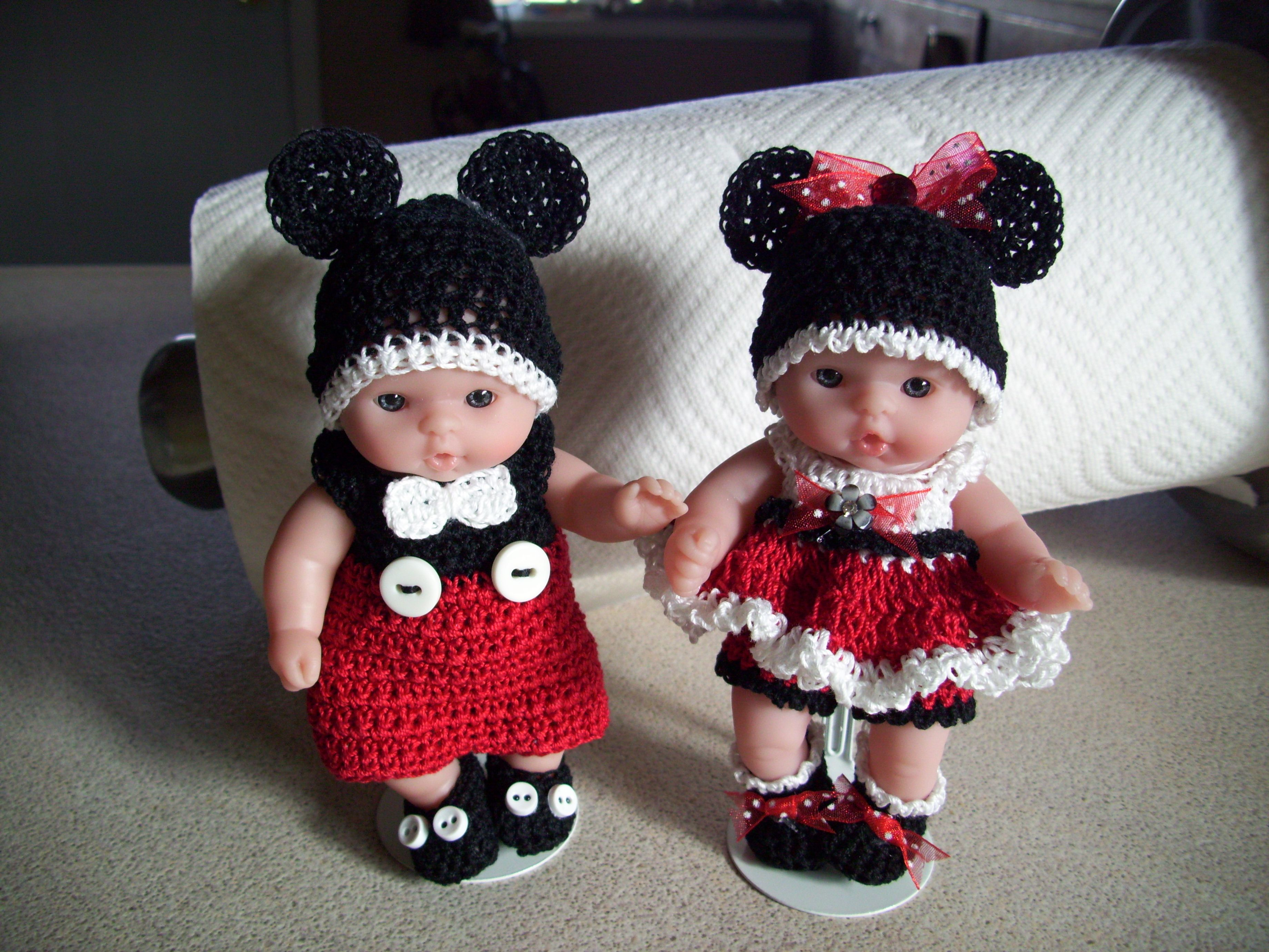 Berenguer 5 Quot Baby Dolls Mickey And Minnie Mouse