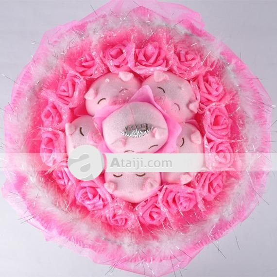 Stuffed Animal Bouquet Rose Wedding Bouquet Bouquet