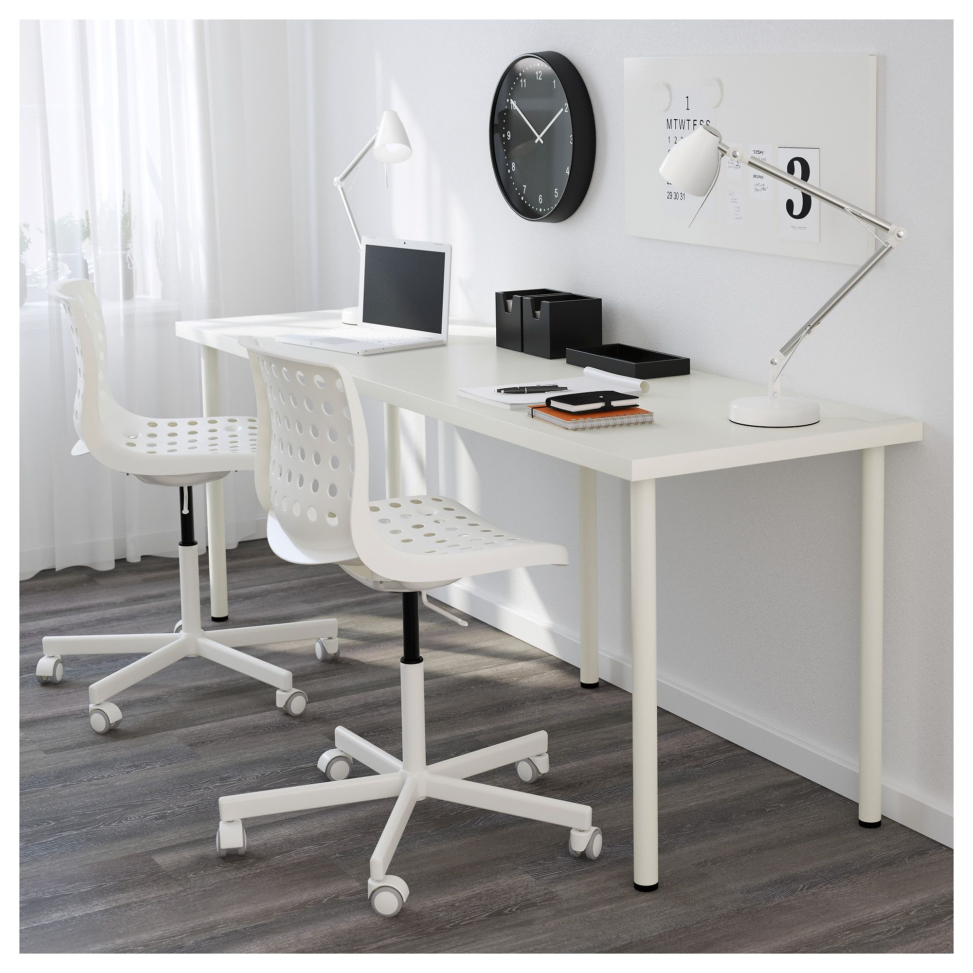 Linnmon Adils White Table 200x60 Cm Ikea Linnmon Table Top Ikea Linnmon Desk Home Office Furniture