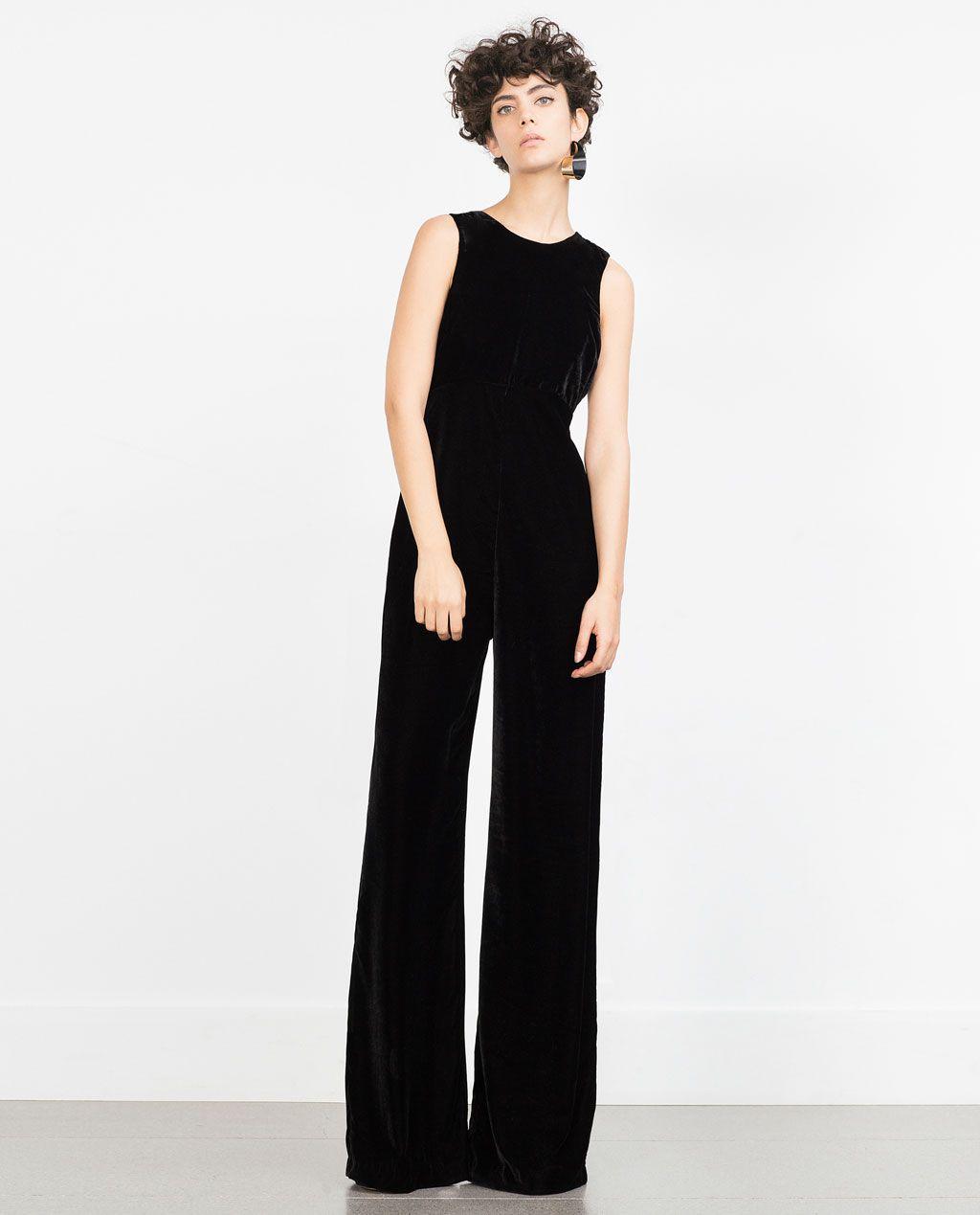 a0163344ef Image 1 of VELVET JUMPSUIT from Zara