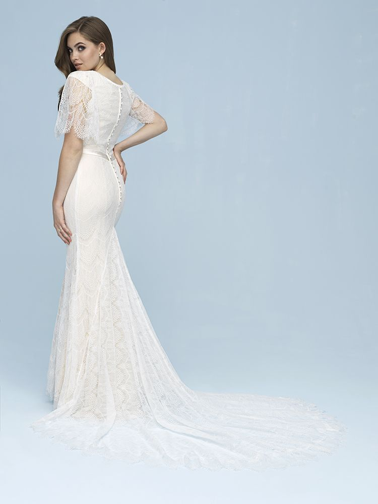 6f89e920e1 Vintage Inspired Lace Wedding Dress from Allure Bridals