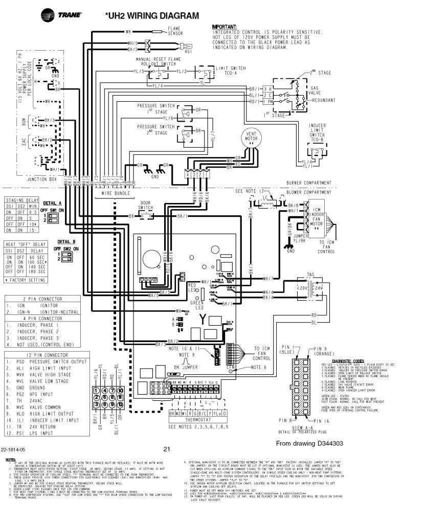 Trane Air Handler Wiring Diagram Elegant In 2020 Trane Air Handler Goodman Furnace
