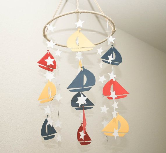 Nautical Mobile by BlueWaterOriginals on Etsy, $65.00