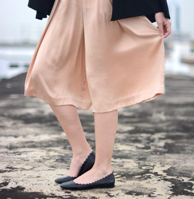 Blush Culottes - Chloe Scallop Flats -  A PIECE OF ELISE