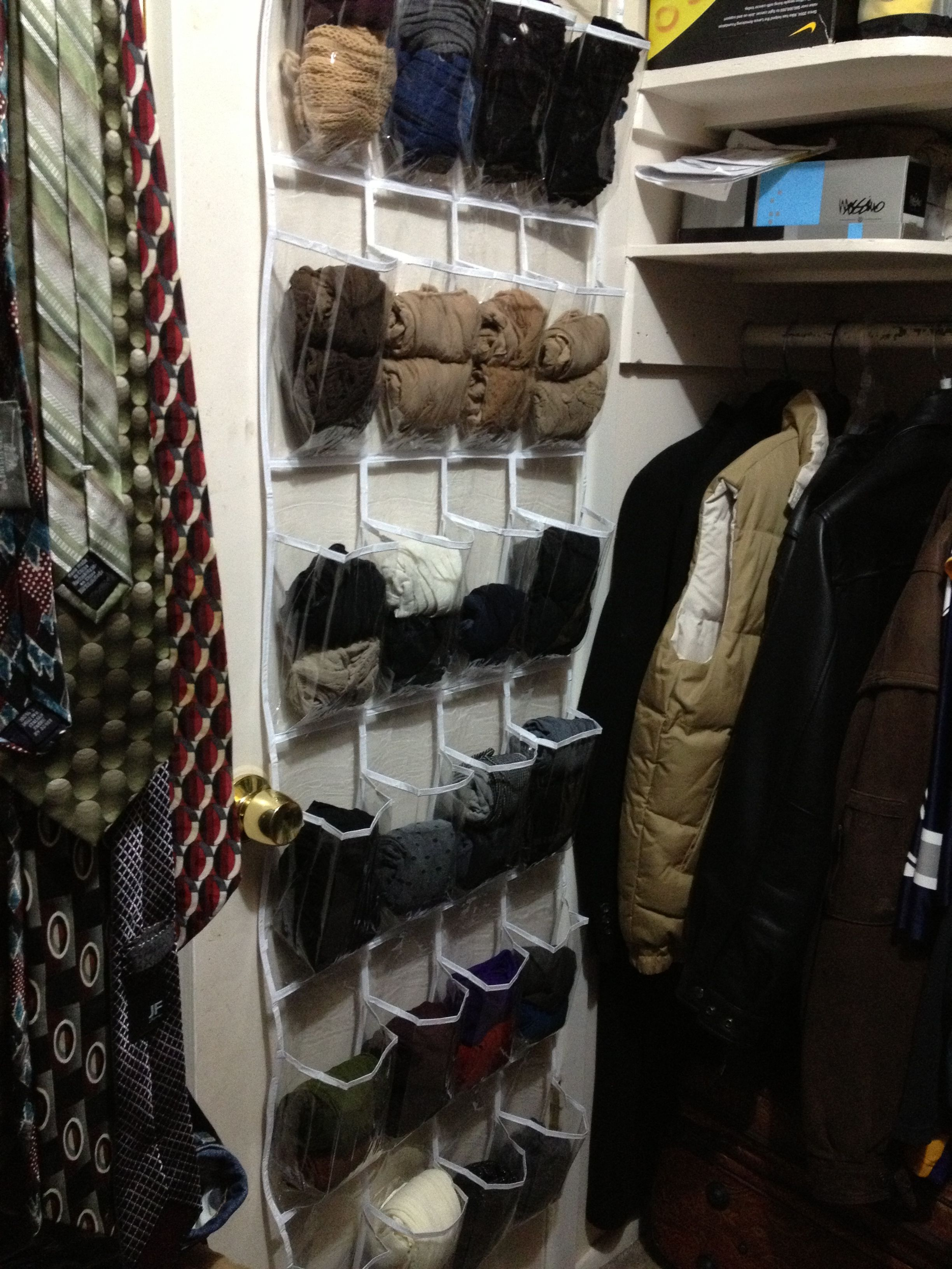 Use See Through Over The Door Shoe Organizer To Organize
