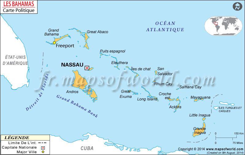 Carte De Bahamas Map Of Bahamas