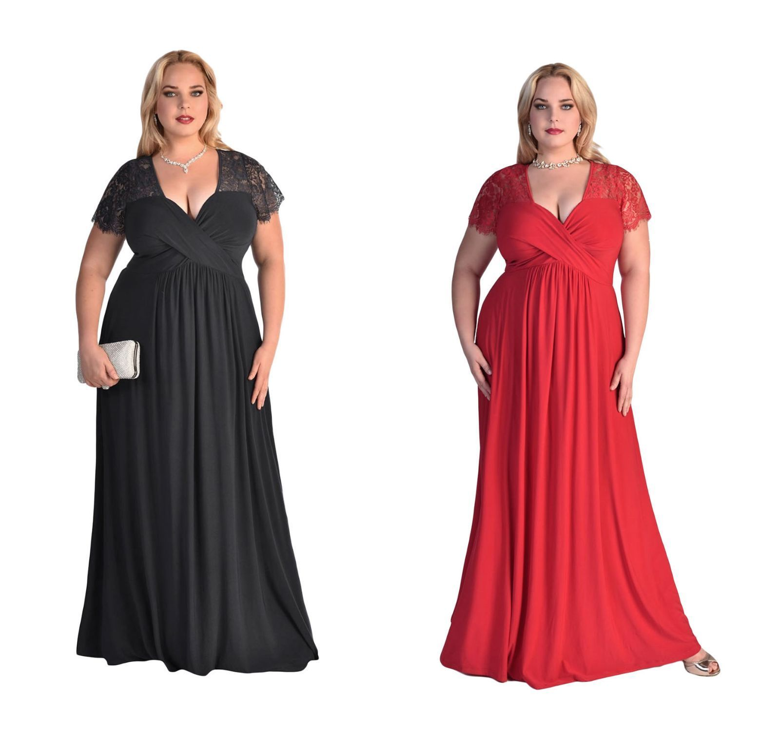 Nice awesome new womenus black red lace long maxi prom evening dress