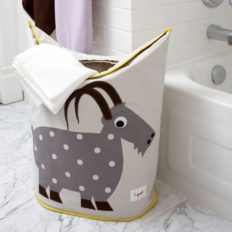 Baby Storage Basket Organizer Bin for Nursery Clothes 3 Sprouts Laundry Hamper