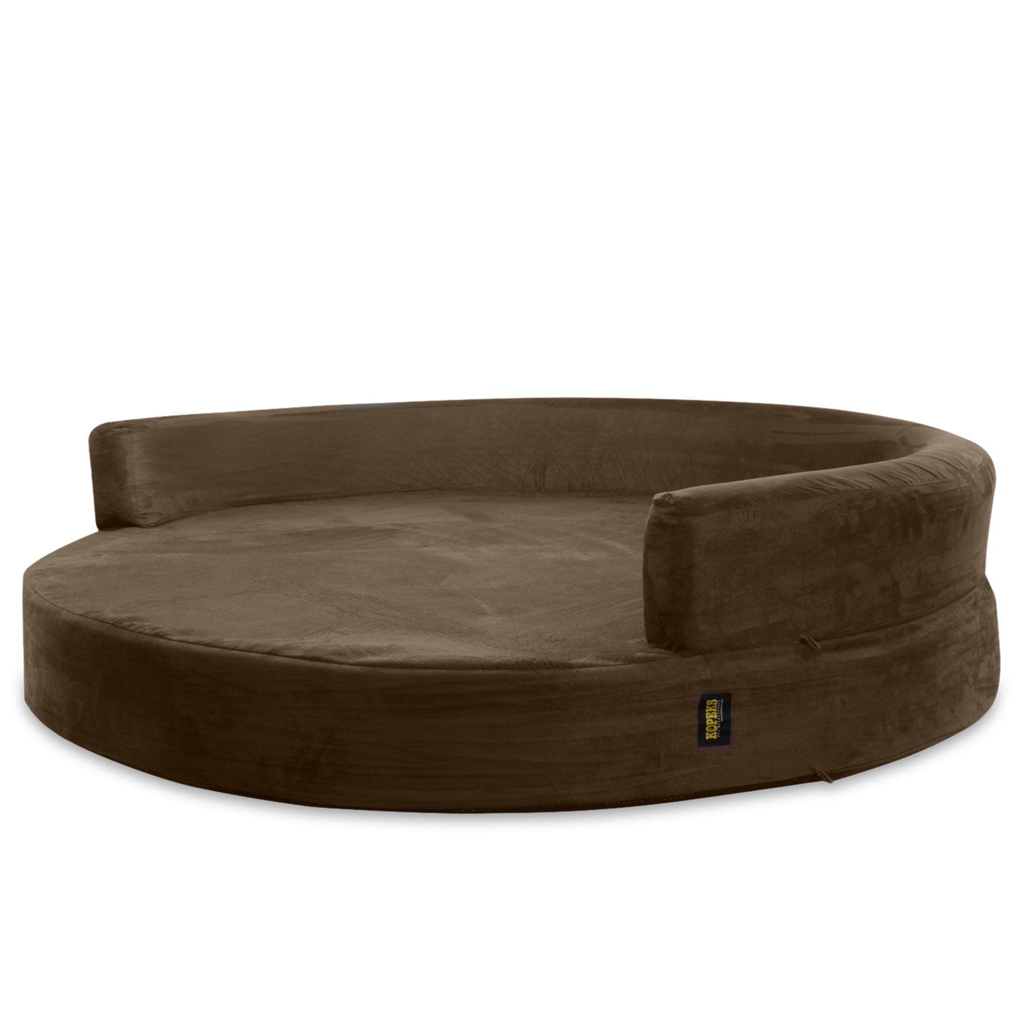 Kopeks Orthopedic Memory Foam Round Brown Sofa Bed for
