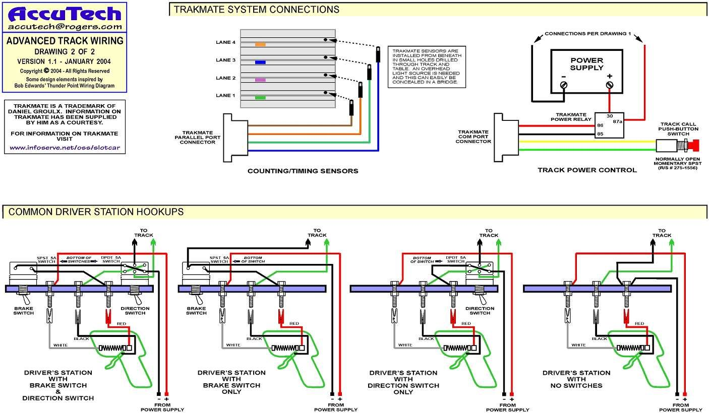 slot car track wiring diagram electrical wiring diagram guide Slot Car Collection