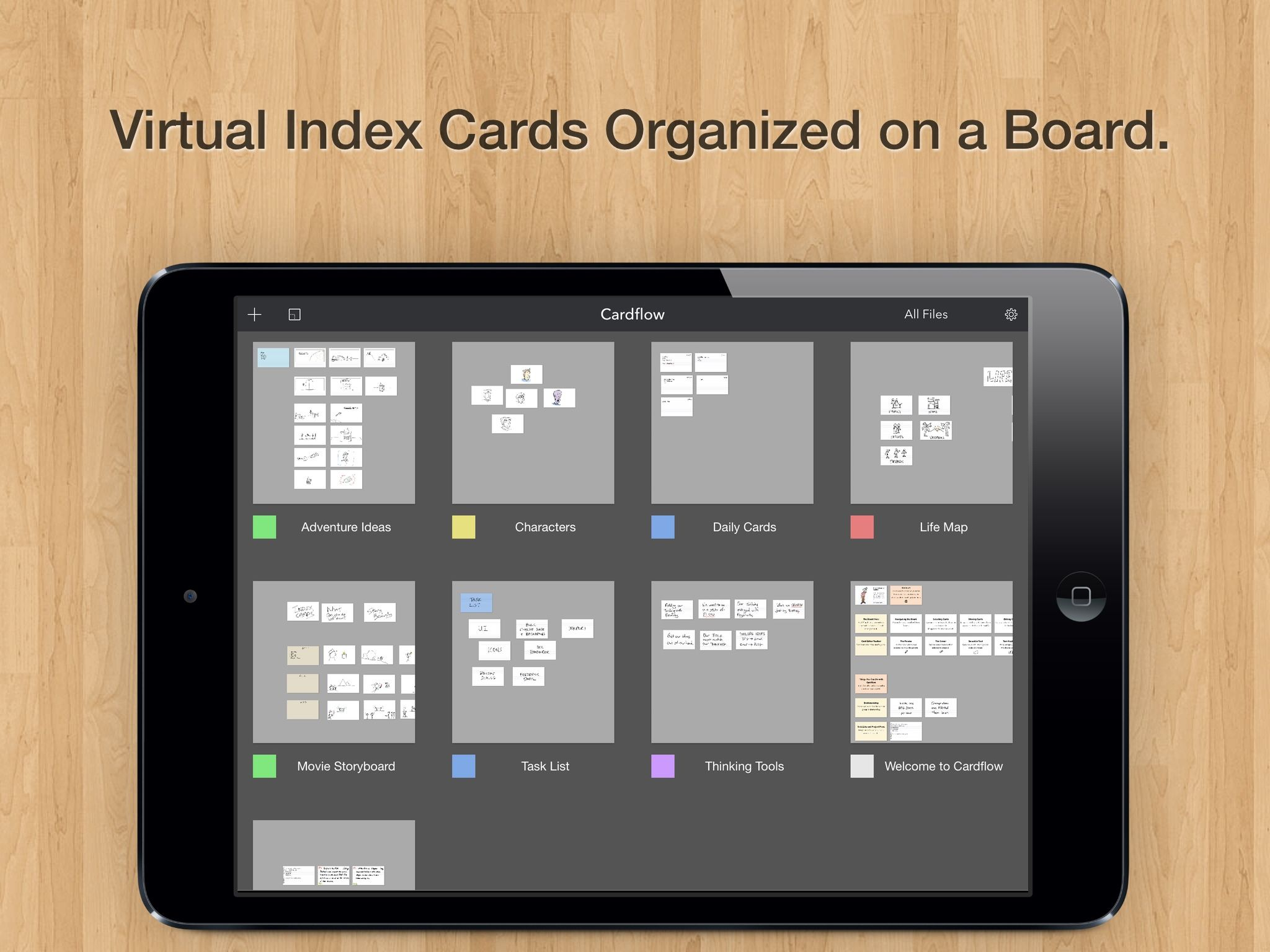 Cardflow the best index card app for the ipad index