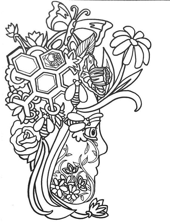 15 More Fun Fancy Funky Faces Coloring Pages Original Art Book For AdultsColoring Therapy Adults Print