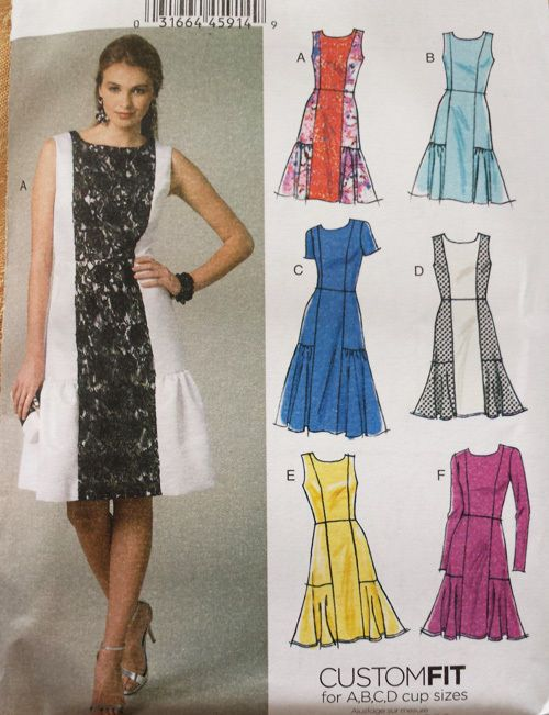 V9078 Easy Vogue Sewing Pattern Patron Couture Misses Options 6 Styles  Dresses    Vogue 5a18da8dab89
