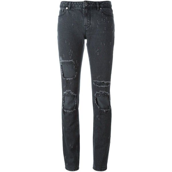 Distressed High-rise Slim-leg Jeans - Black Givenchy Low Cost Outlet From China eLBOya