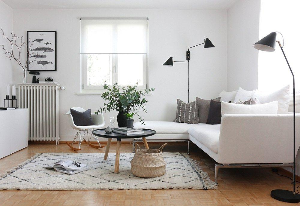 Beni Ourain @ Patrizia\u0027s home Jeannette Interior Pinterest - weiss grau wohnzimmer mit violett deko