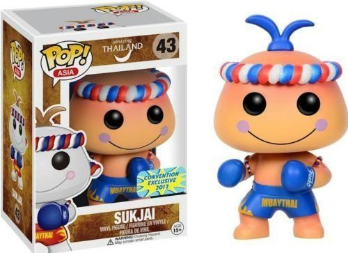 Funko Pop Asia Exclusive Sukjai Peach 43 Muaythai Thailand Rare Hard To Find Funko Funko Pop Toy Store