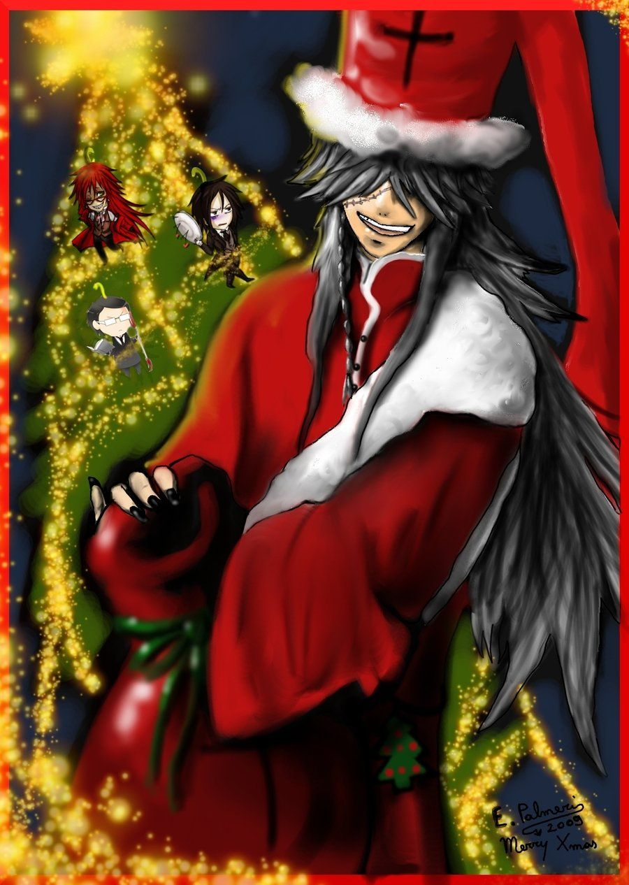 undertaker from black butler at christmas i know this is too early fro christmas but why not - Black Butler Christmas