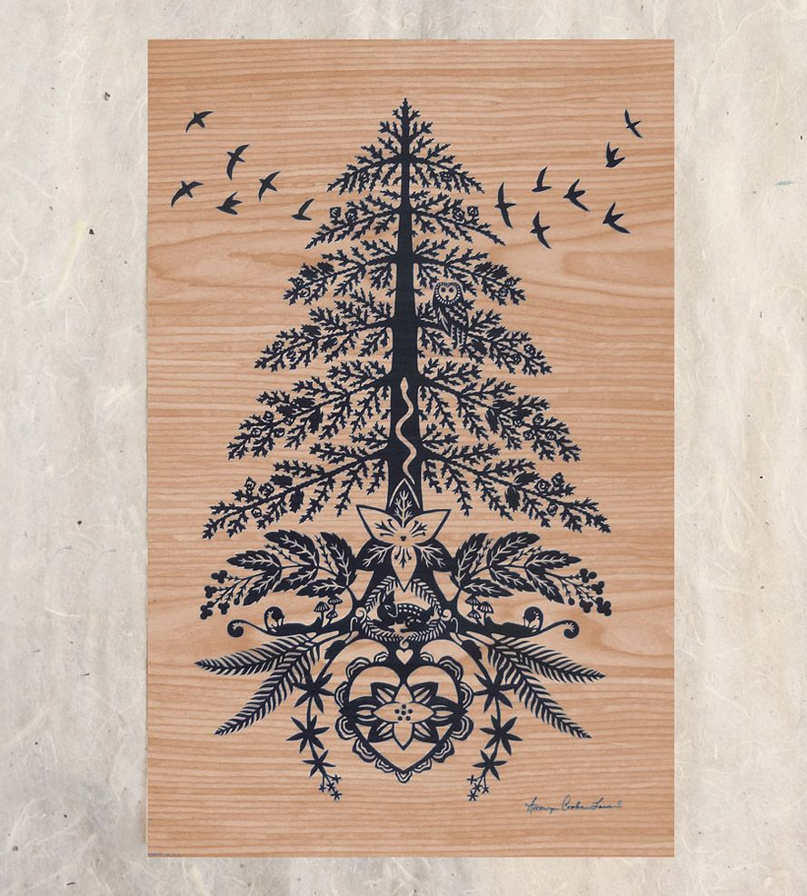 Red cedar wood paper cut wall art red cedar wood tattos and tattoo red cedar wood paper cut wall art the mighty red cedar tree in this piece buycottarizona Images