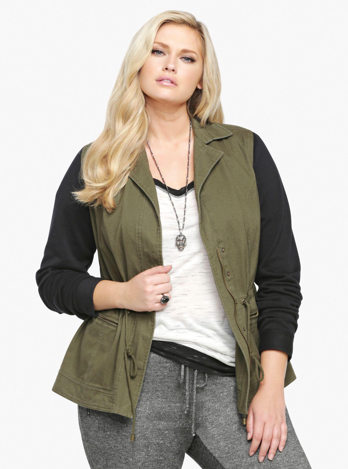 0389eb734f3 Knit Sleeve Utility Jacket