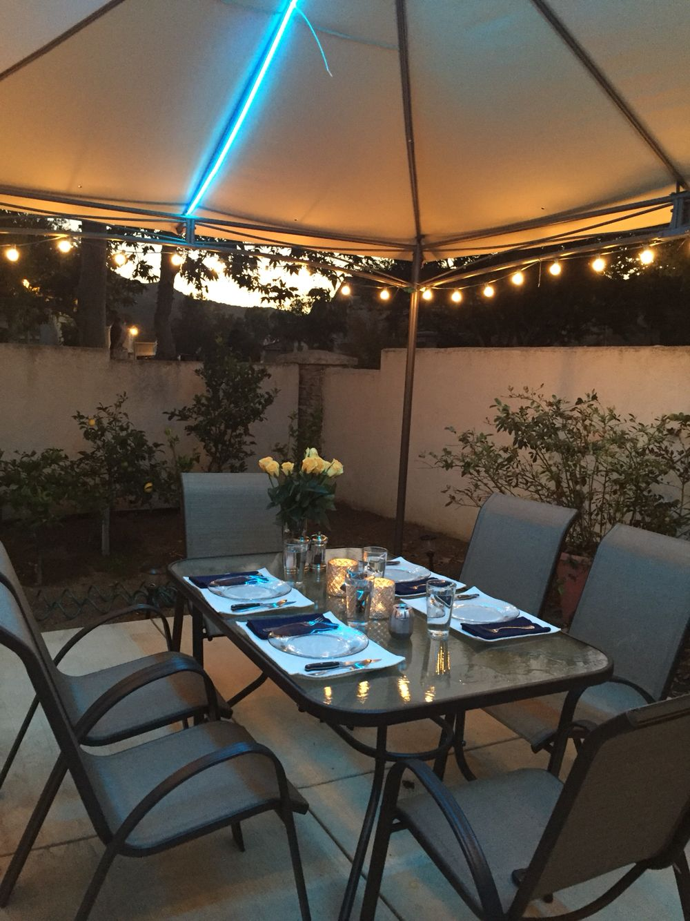 We put a lot of time into our outside seating area, it's so fun, like being at a restaurant !!!