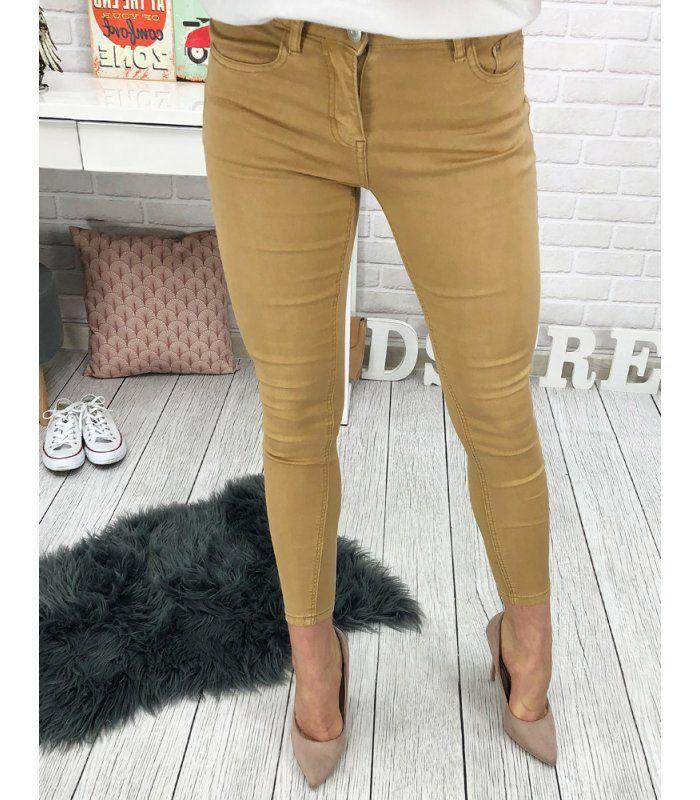c984808eb3fa Dámske džínsove hnedé nohavice