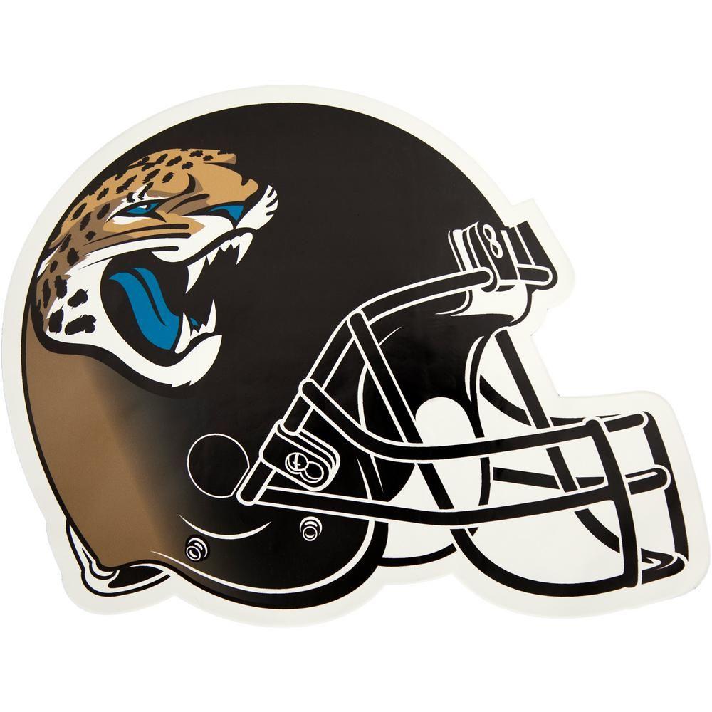 493f1548 Applied Icon NFL Jacksonville Jaguars Outdoor Helmet Graphic- Large ...