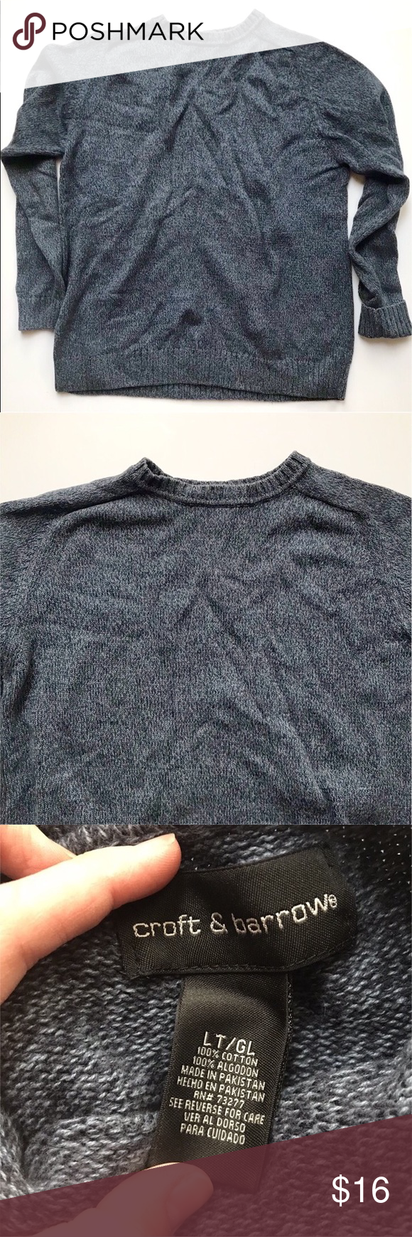 Croft Barrow Men S Crewneck Sweater Color Is A Mix Of Dark Blue And Grey Great Condition Husband Closet Cl Sweaters Crew Neck Sweater Men Crew Neck Sweater [ 1740 x 580 Pixel ]