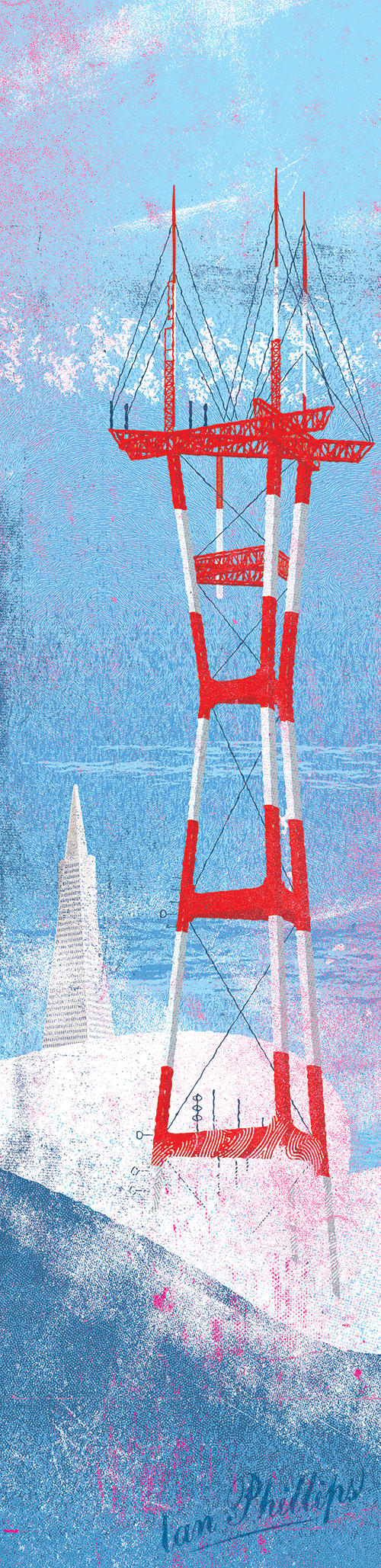 San Francisco • Sutro Tower • Transamerica Pyramid • Copyright © Ian Phillips