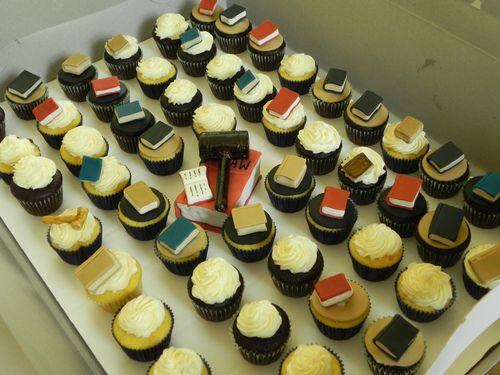 Adorable book cupcakes