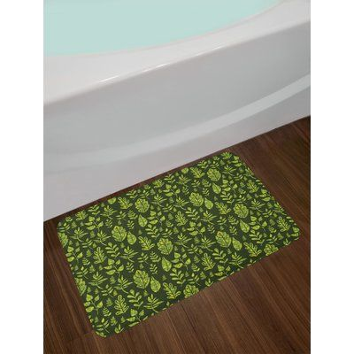 East Urban Home Patterned Green Leaves Nature Inspired