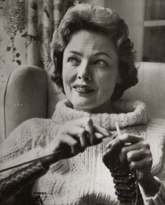 One More Stitch: Famous Knitters – Gene Tierney