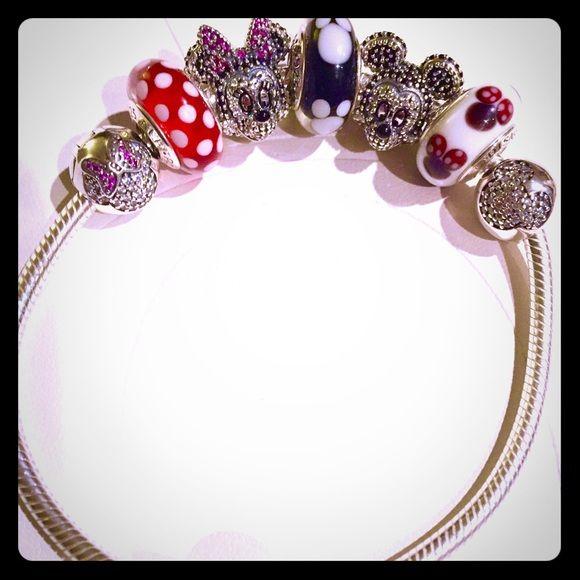 ca5828a1d ... Pandora Disney Bracelet Starter Set Authentic Pandora Disney Child  Bracelet Starter Set Limited Edition Sparkling Mickey Minnie Mickey ...