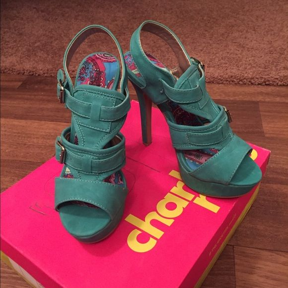 Like new heels size 5-6 Selling a lot of my heels. Their either to high or a little too big! They're in excellent condition! Charlotte Russe Shoes Heels