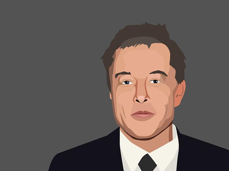 Elon Musk Portrait Secret To Success Portrait Vector Portrait