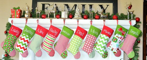 personalized christmas stocking get a head start for 2014 on etsy 2995