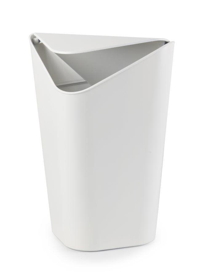 Abfalleimer Corner Can Weiß Schwingdeckel von Umbra | Badezimmer ...