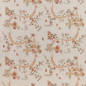 COWTAN & TOUT EXCLUSIVE LA PAGODE CHINOISERIE FABRIC