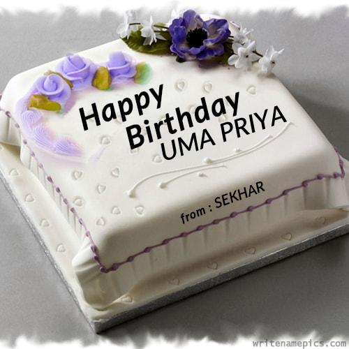 Sekhar Valli Animal Birthday Cake With Flowers Cake Name Edit