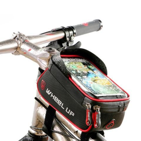Bike Bicycle Waterproof Touch Screen Front Handlebar Bag 6/'/' Phone Pouch Holder