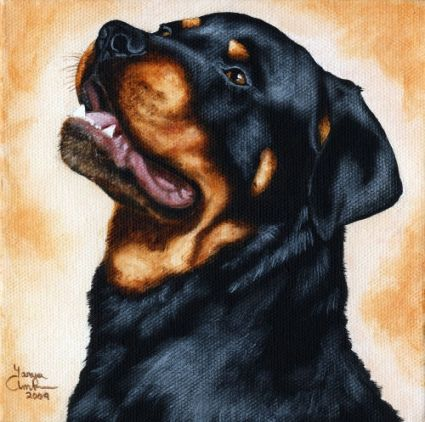 Dog Painting Rottweiler Dog Rottweiler Dog Breeds