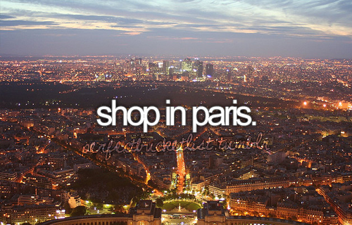 With an unlimited amount of spending money. (Maybe that's more of a wish than something that I could actually do)