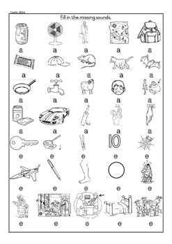 CVC Worksheet Grade 1 Initial and final sounds, only a and e middle ...