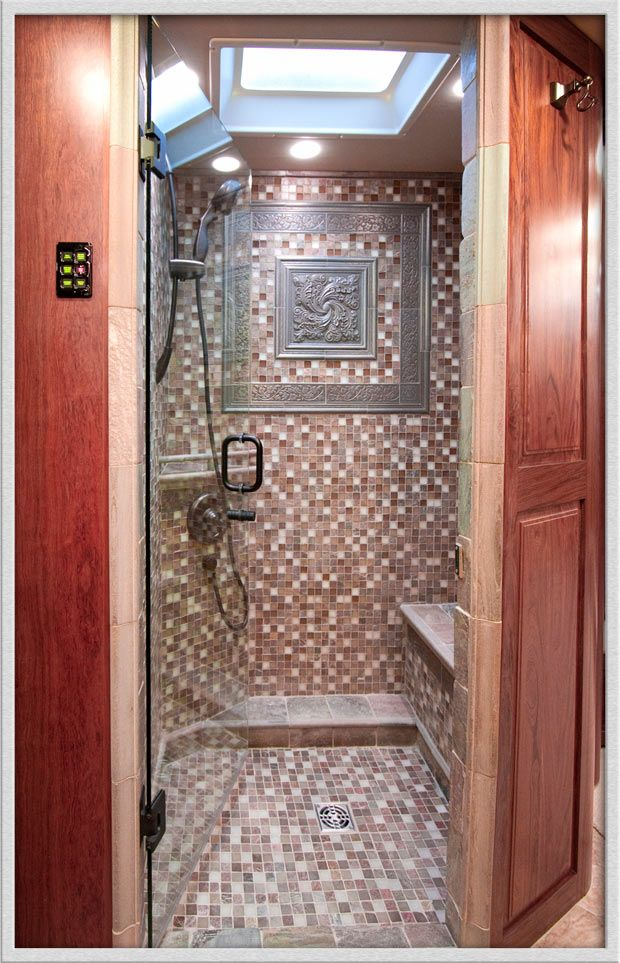 The 15 Most Glamorous Rv Bathrooms On The Planet Rv Bathroom Shower Remodel Amazing Bathrooms