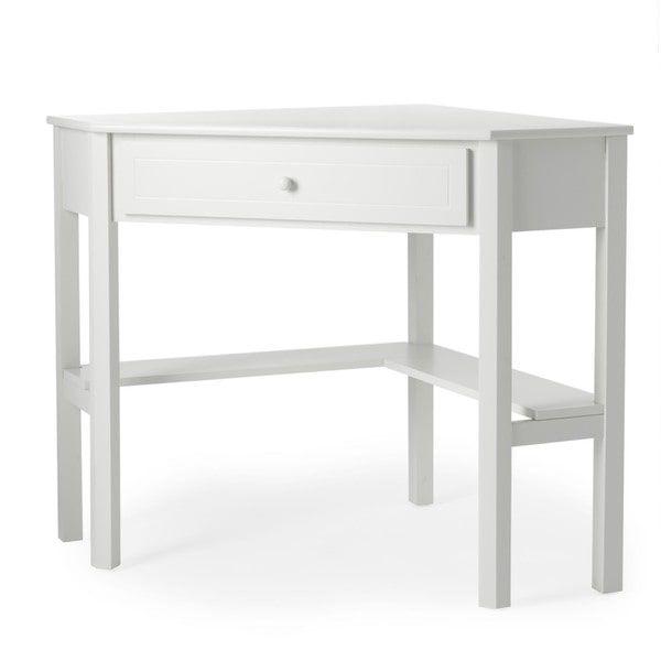 Simple Living Antique White Wood Corner Computer Desk - Simple Living Antique White Wood Corner Computer Desk Room