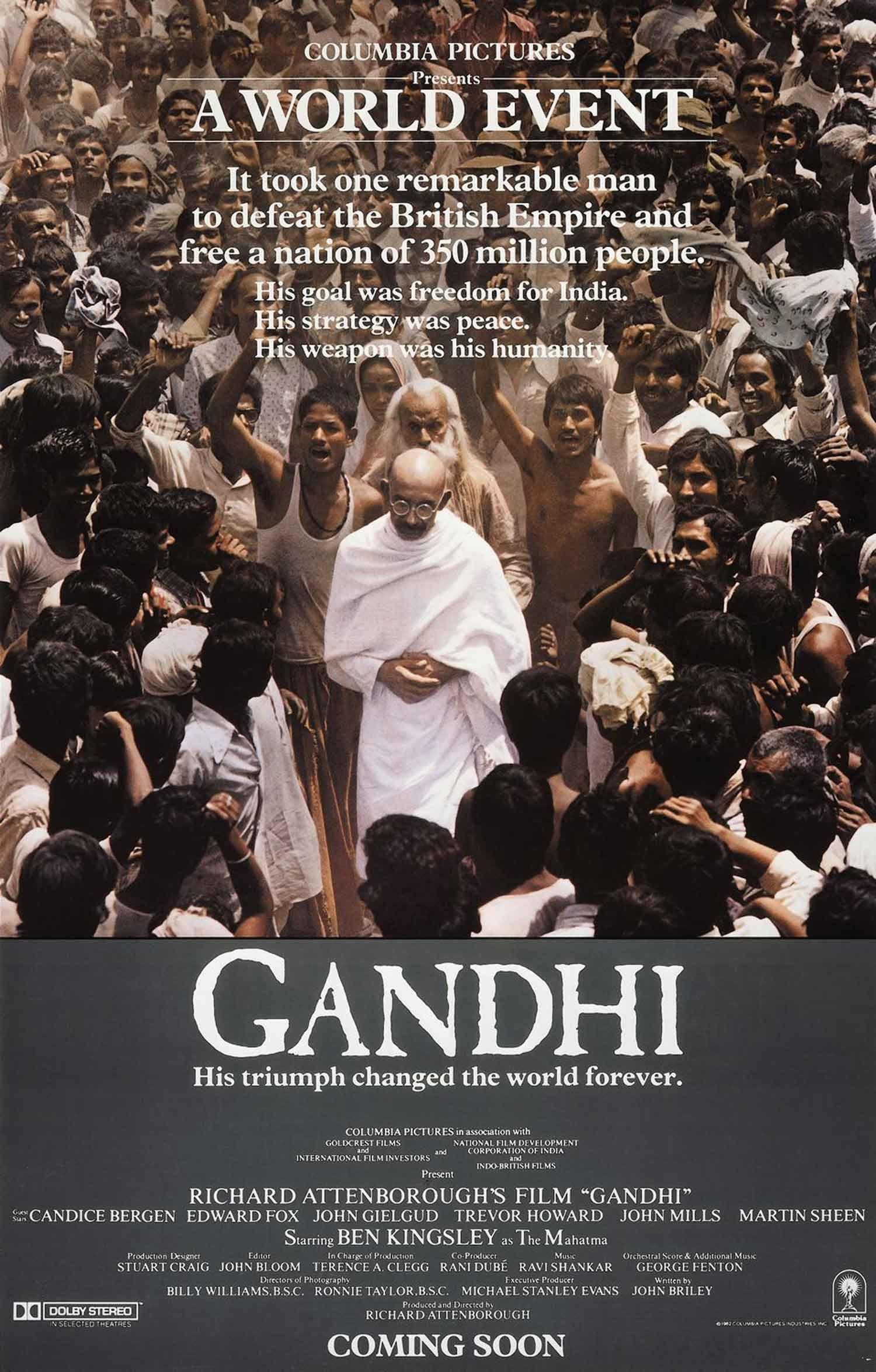 55th Academy Awards Best Picture Winner Gandhi Apr 11 1983 Gandhi Film See Movie Richard Attenborough
