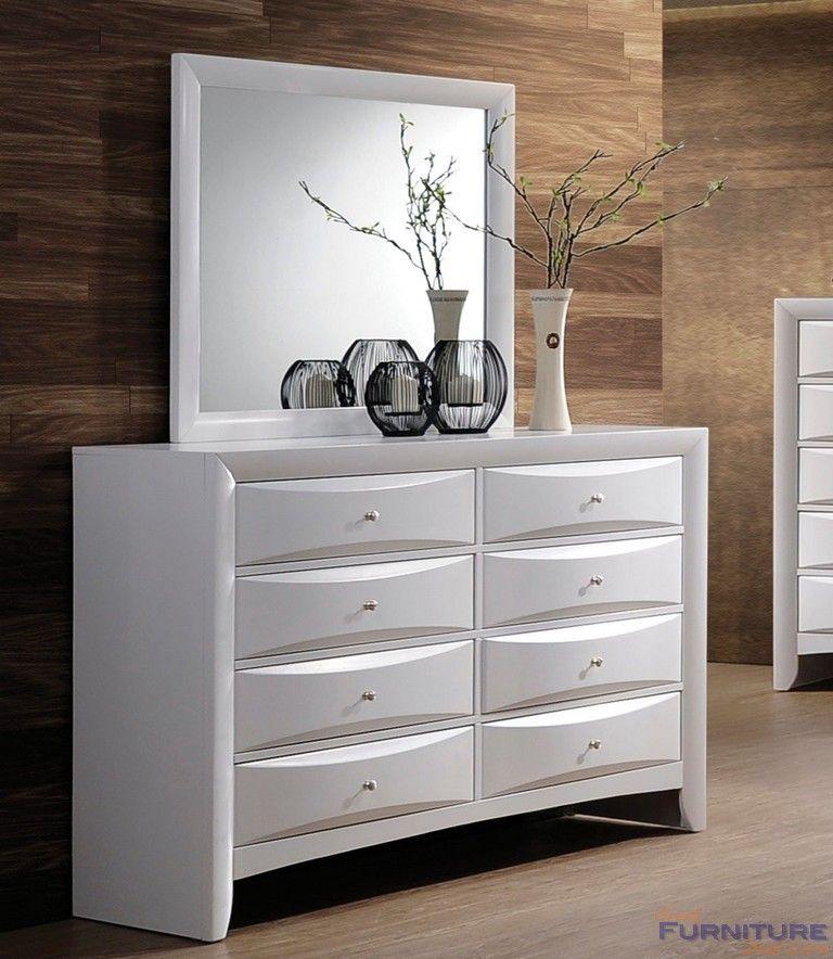 Best Acme Furniture Ireland White 8 Drawer Dresser And Mirror 400 x 300